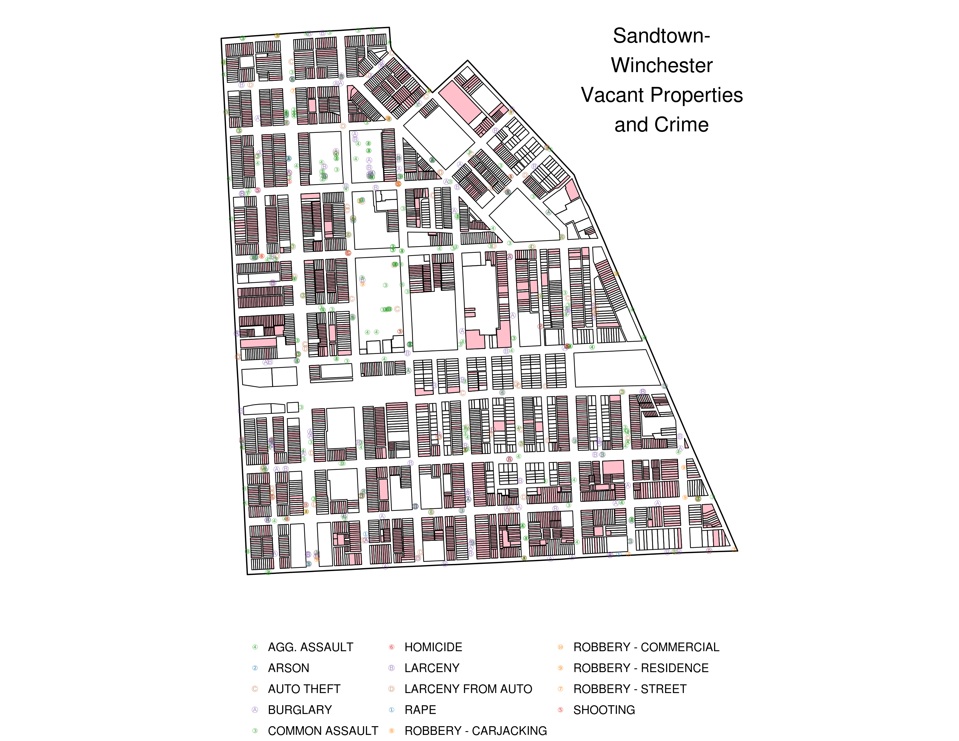 Visualizing Baltimore 3.1: Crime and Vacant Properties, Neighborhood Level, Bit More Polished
