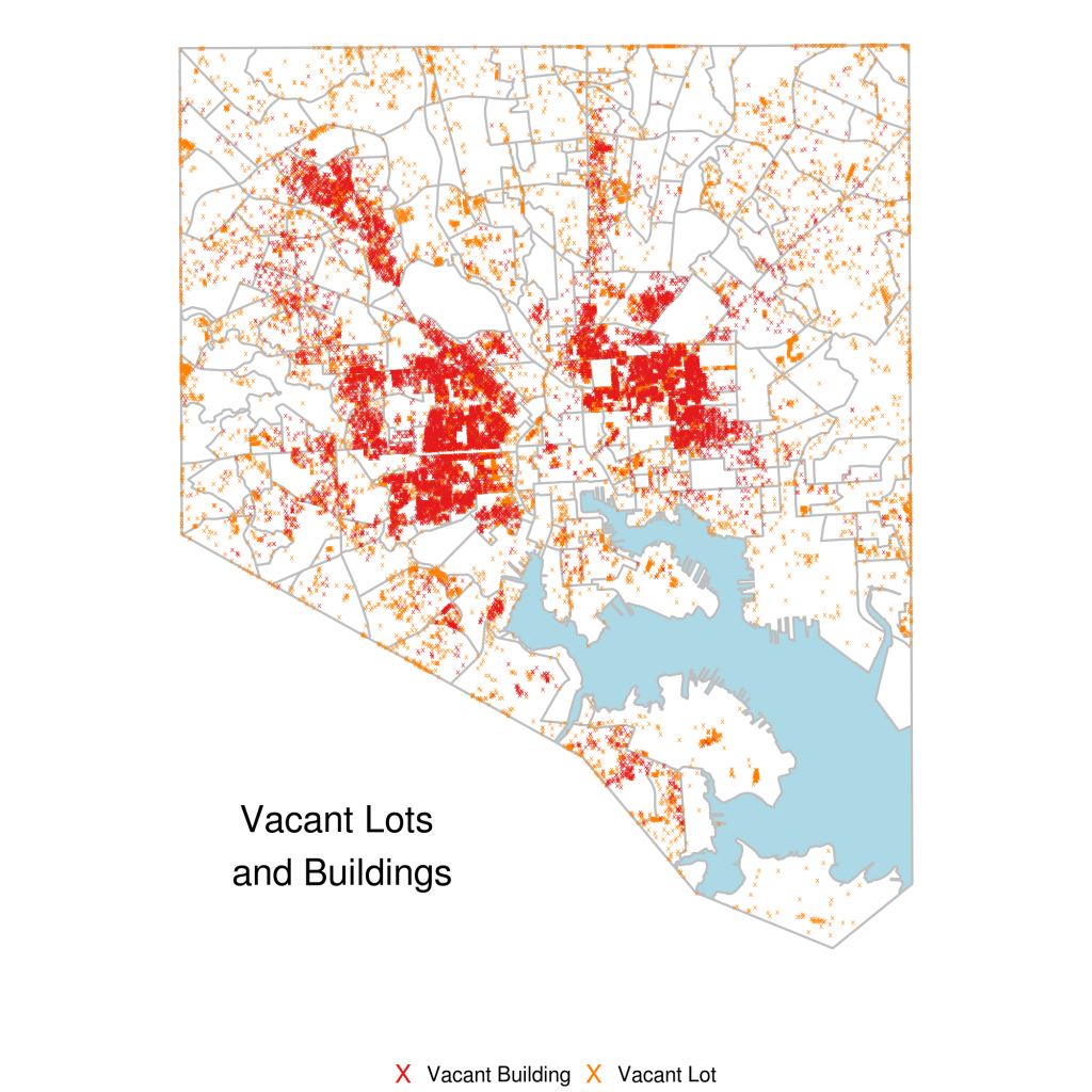 Visualizing Baltimore 2: Vacant Property and Some More Crime
